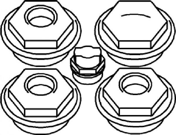 bemm stopfenset 5 4 x 1 2 radiatorstopfen stopfen zubeh r ersatzteile heizung bad. Black Bedroom Furniture Sets. Home Design Ideas