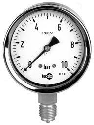 "Manometer 1/2"" 0-16 bar Edelstahl"