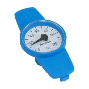 Thermometer blau