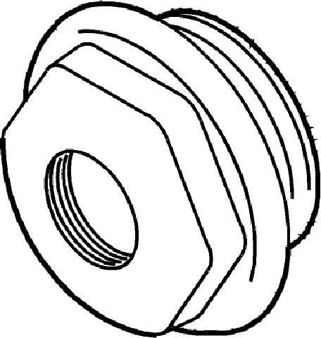 "Radiatorstopfen Links Gewinde 1 1//4/"" weiß Heizkörper Blindstopfen 5//4/"" Stopfen"